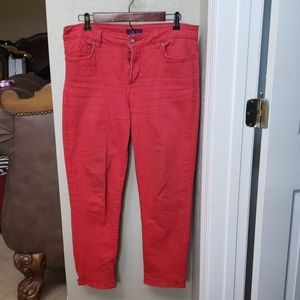 Red NYDJ jeans size 8